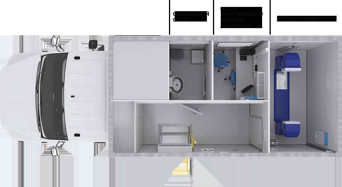 Передвижной флюорографический кабинет